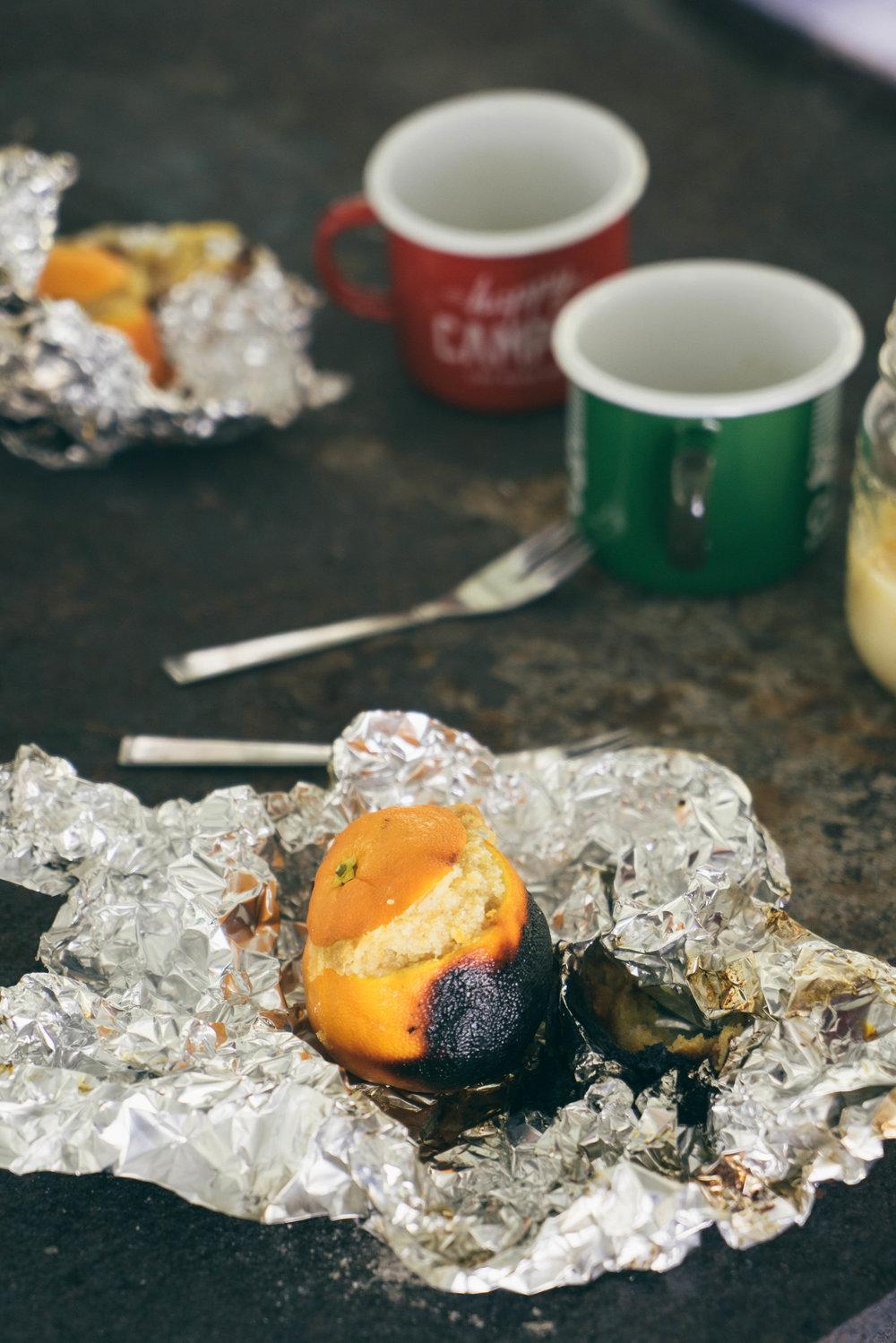 Orange Almond Campfire Cakes
