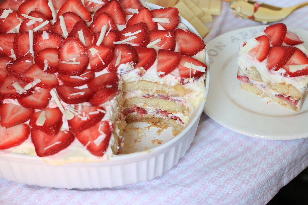 Strawberry White Chocolate Tiramisu