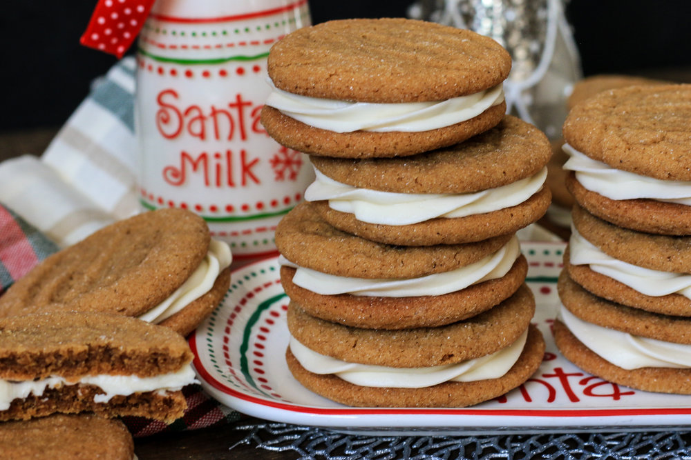 Chewy Ginger Cookies With Cream Cheese Buttercream