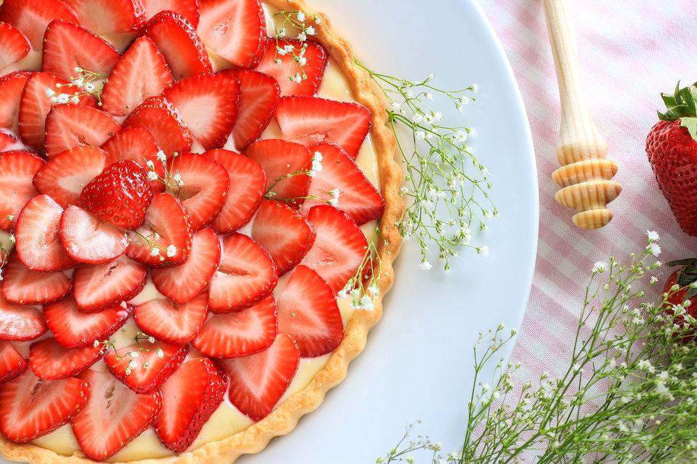 Strawberry Honey Tart