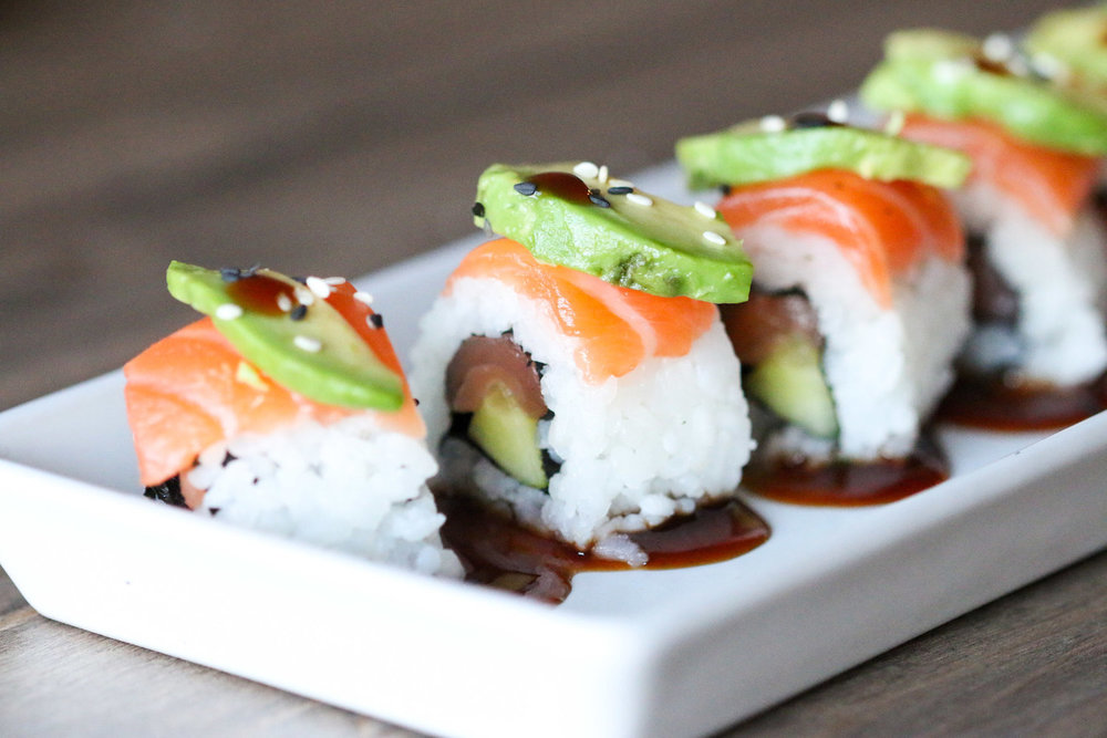 Salmon Cucumber Avocado Roll