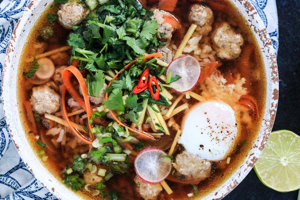 Khao Tom (Thai Rice Soup)