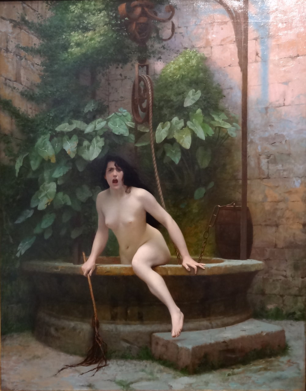 Truth Coming Out Of Her Well - 1896 painting by the French artist Jean-Léon Gérôme.