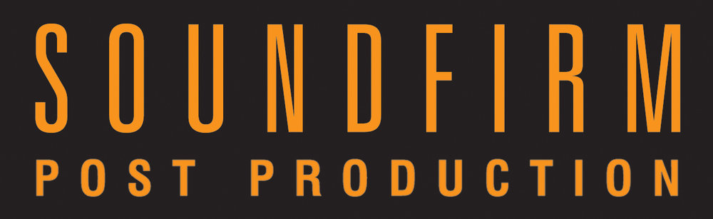 Soundfirm post production Logo Orange on Black Background NEW%0D%0A 2015.jpg