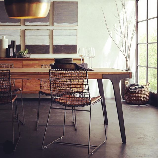 Inspiration by Design | Modern and Refined Wood | You can shop this look @crateandbarrel