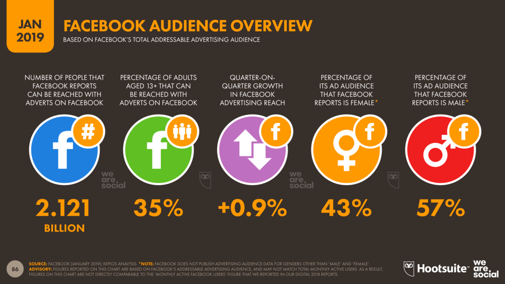 Facebook Advertising Audience Overview January 2019