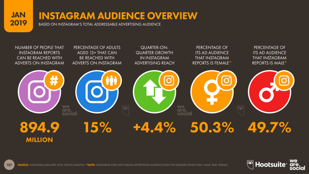 Instagram Advertising Audience Overview January 2019 DataReportal