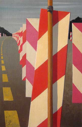 Study for 'Autobahn in the Black Forest II', 1979-80    oil on canvas  43 x 29 cm   SOLD