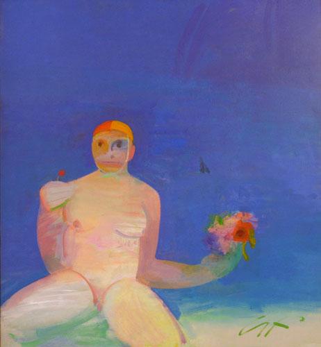Bondi Virgin as a Bridesmaid    oil on canvas  128 x 117 cm   SOLD