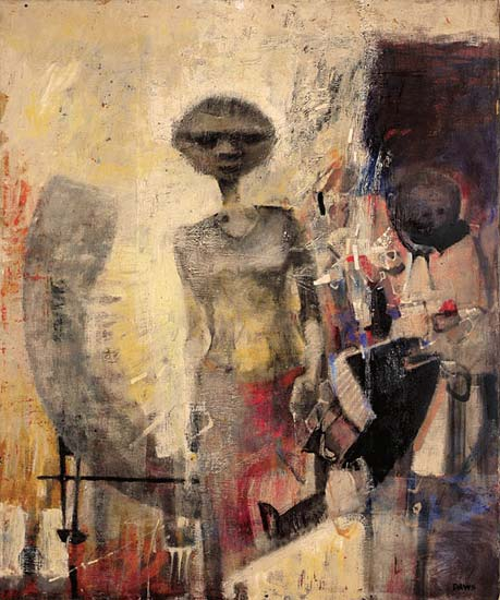 The Outcast, 1956    oil on linen canvas  152 x 127 cm  signed lower right: Daws, label attached verso with artist's name and title   SOLD