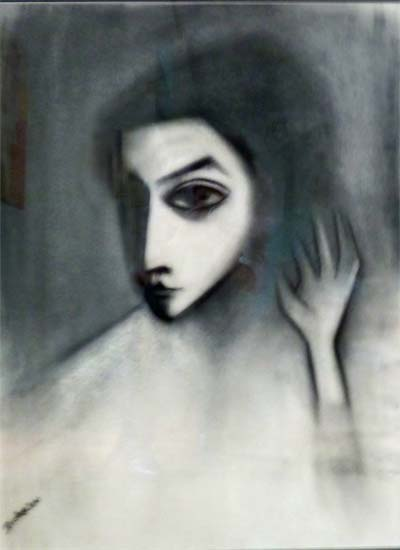 The Model, 1969    pastel on paper  75 x 55 cm  signed 'Dickerson' bottom left   SOLD