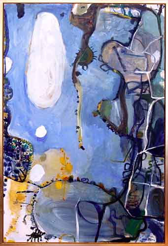 Across the Way to Neutral Bay, 1963    oil on linen  182 x 122 cm   SOLD