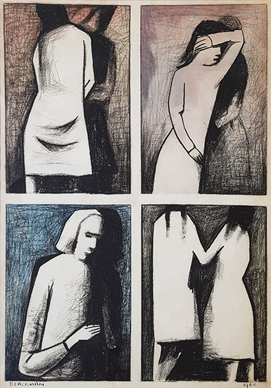 Suite , 1960    charcoal, watercolour and pencil on paper  70 x 51 cm  signed lower left and dated 1960 lower right