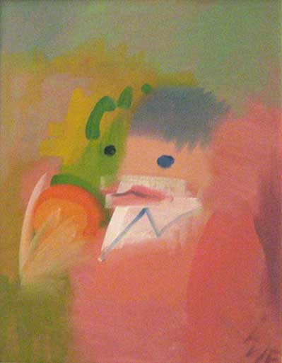 The Clown c.1994    oil on canvas  50 x 39 cm  signed lower left: SF   SOLD