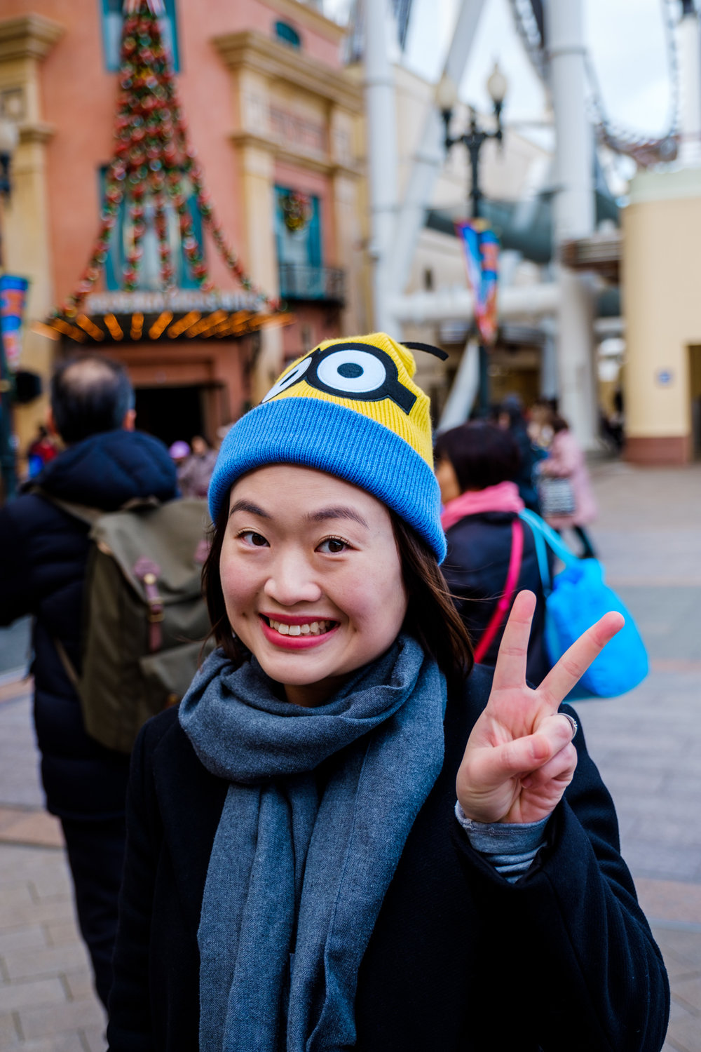 First thing we did when we got in, was to get this minion beanie