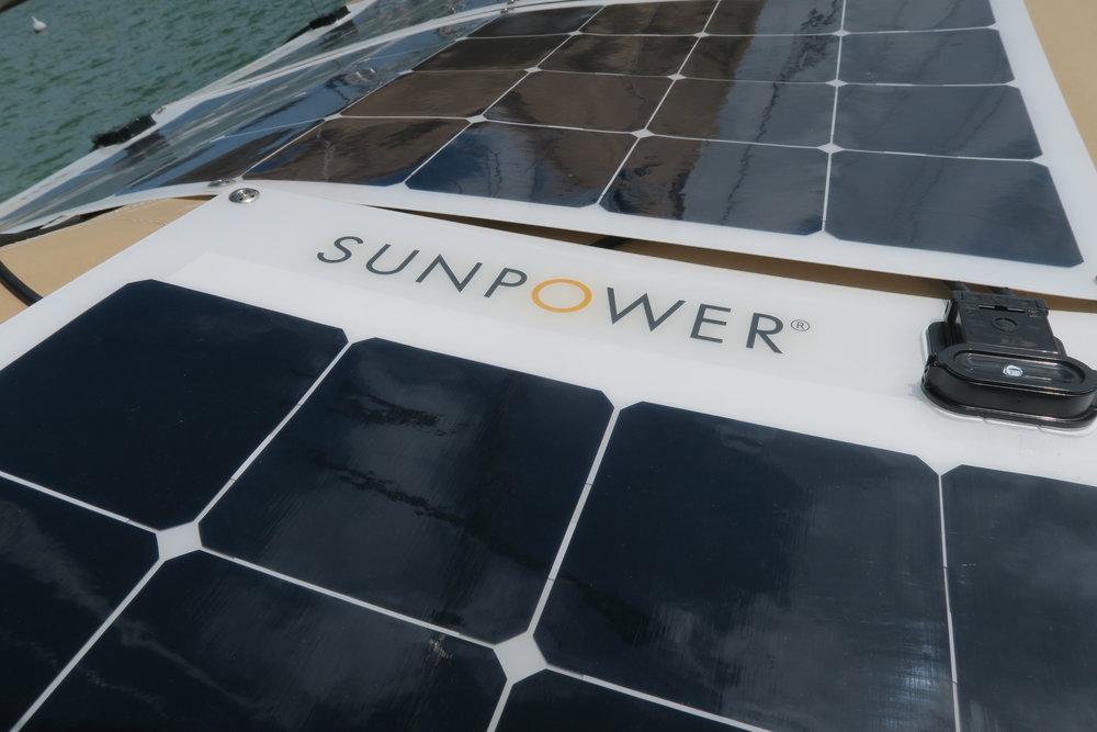 The SunPower 100 watt semi-flexible solar panels are the most efficient semi-flexible panels available