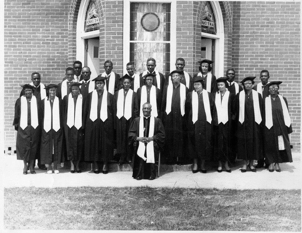 Rev. A. J. Holman with Mt. Zion Church Choir, ca. [1950].