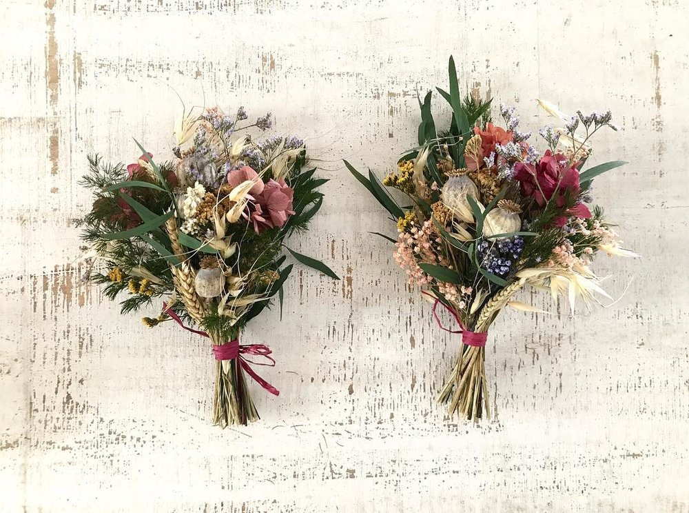 Ramo de flores secas y preservadas