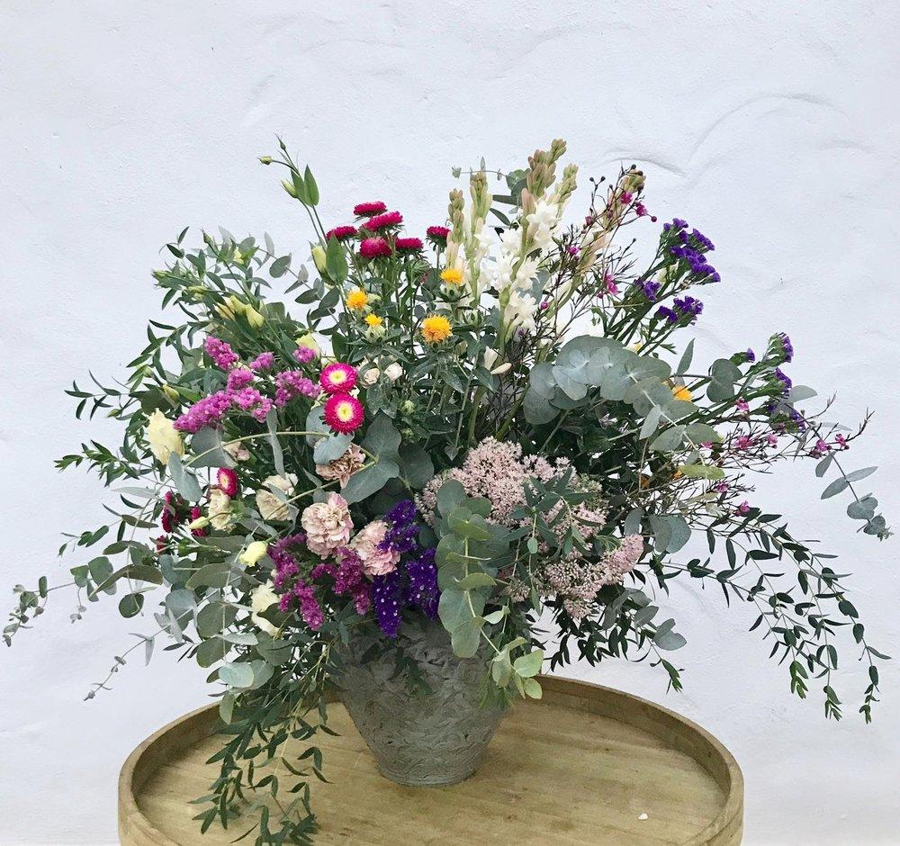 Copia de Centro de flores frescas