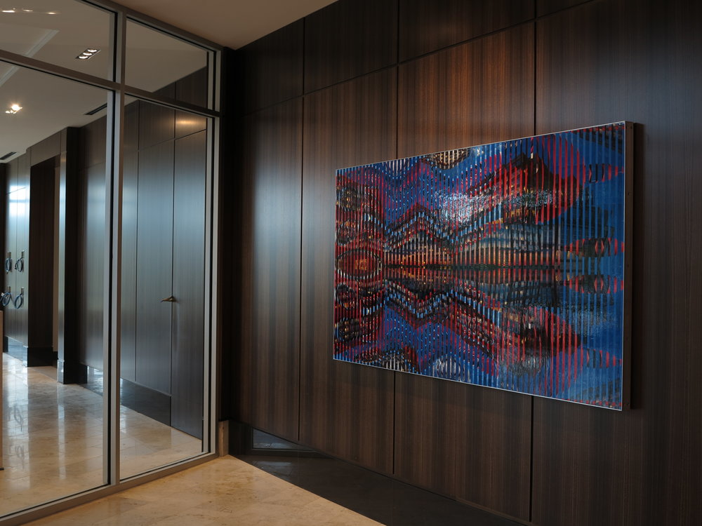 "Lobby of New Headquarters for MSC Davidson NC © 2013 Pattiy Torno  90"" x 44"""