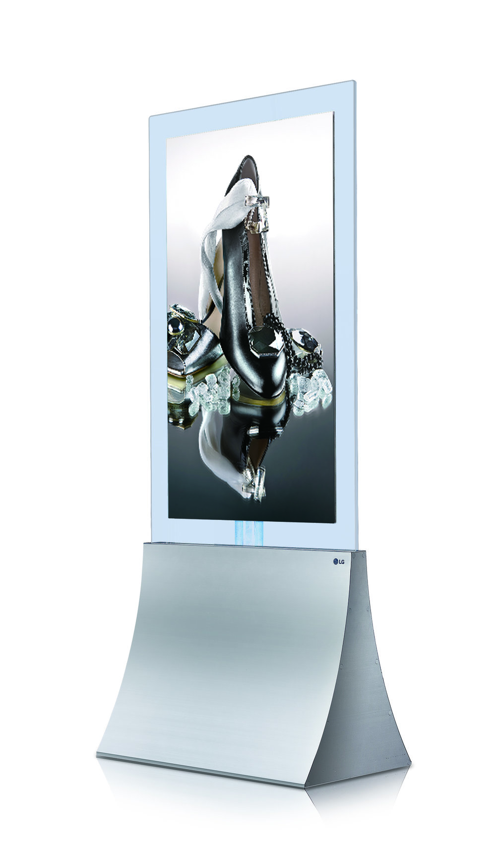 OLED SIGNAGE IN-GLASS STAND