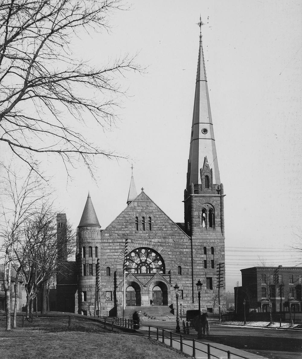 Exchange Street facing main entrance - c. 1905 Courtesy of the Minnesota Historical Society -