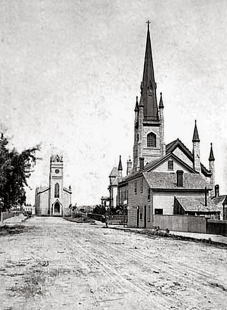 Courtesy of the Minnesota Historical Society - Cedar Street c. 1870