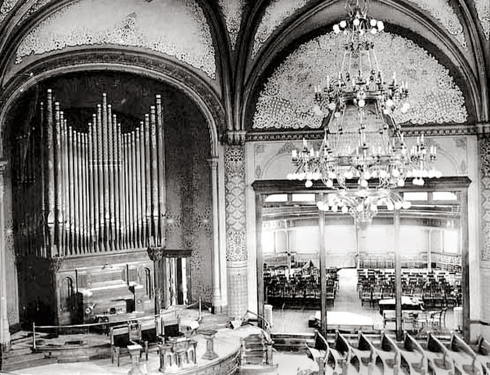Sanctuary open to the Friendship Room - c. 1924 Courtesy of the Minnesota Historical Society