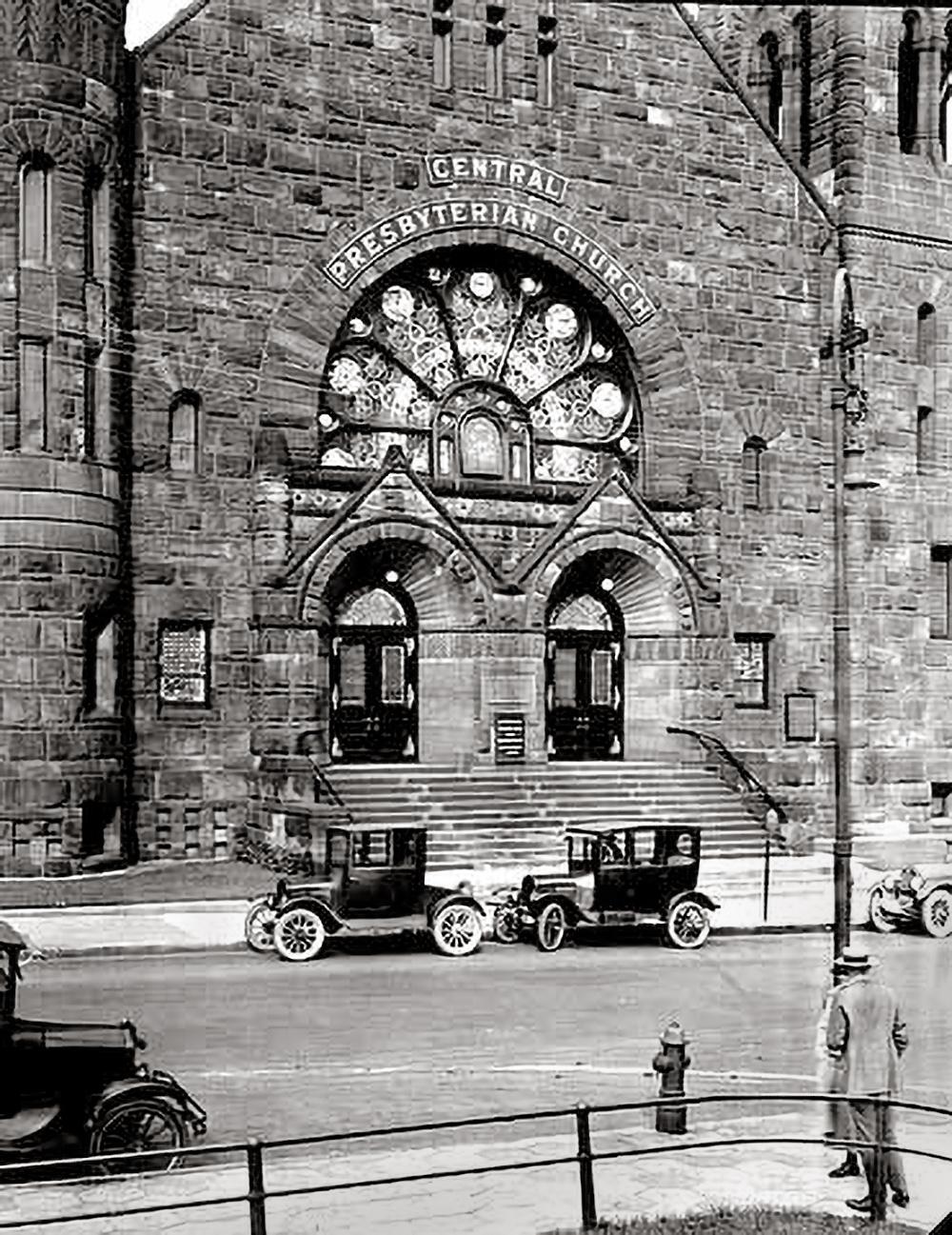 Main entrance steps - c. 1925 Courtesy of the Minnesota Historical Society -