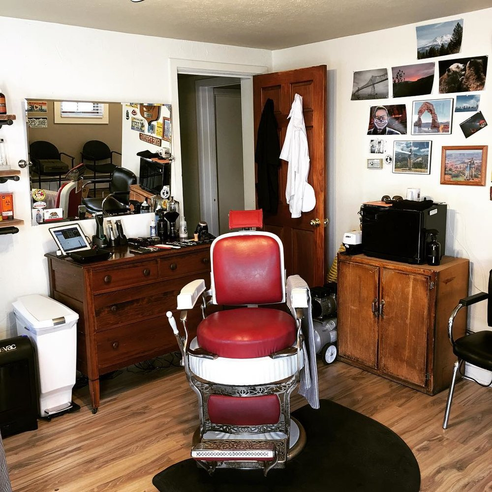 Steamboat Springs Barber Shop - Authentic Antique Barber Chairs