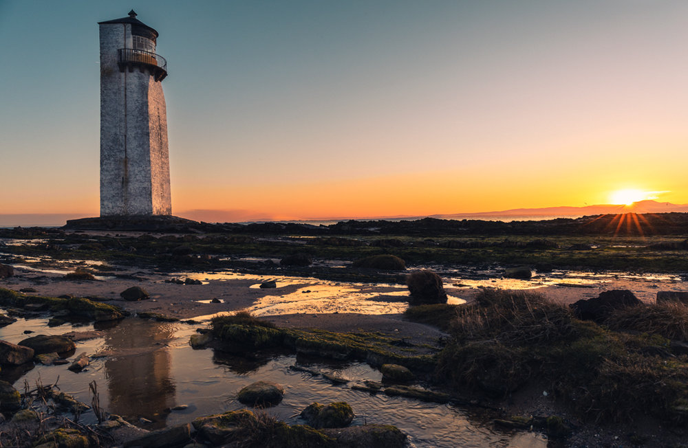 Southerness Lighthouse at Dawn