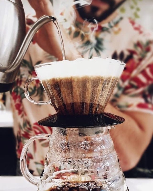 "Want a pour-over? We got it! Stop by and taste our current selection from Ethiopia ""Idido"" 🇪🇹 It's delicious😍😍 . . . . . #coffee #coffeeshop #downtownmiami #xbuilding #baristadaily #baristalife #barista #coffeegram #coffeeporn #singleorigin #synesso #miami #miamifoodie #monday #mondaymotivation #coffeehouse #specialtycoffee  #coffeelover #MockingbirdCafe #pourovercoffee #pourover"