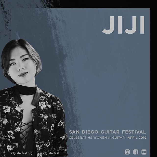 Jiji. Performing on classical and electric guitar on April 20 at SDGF19!