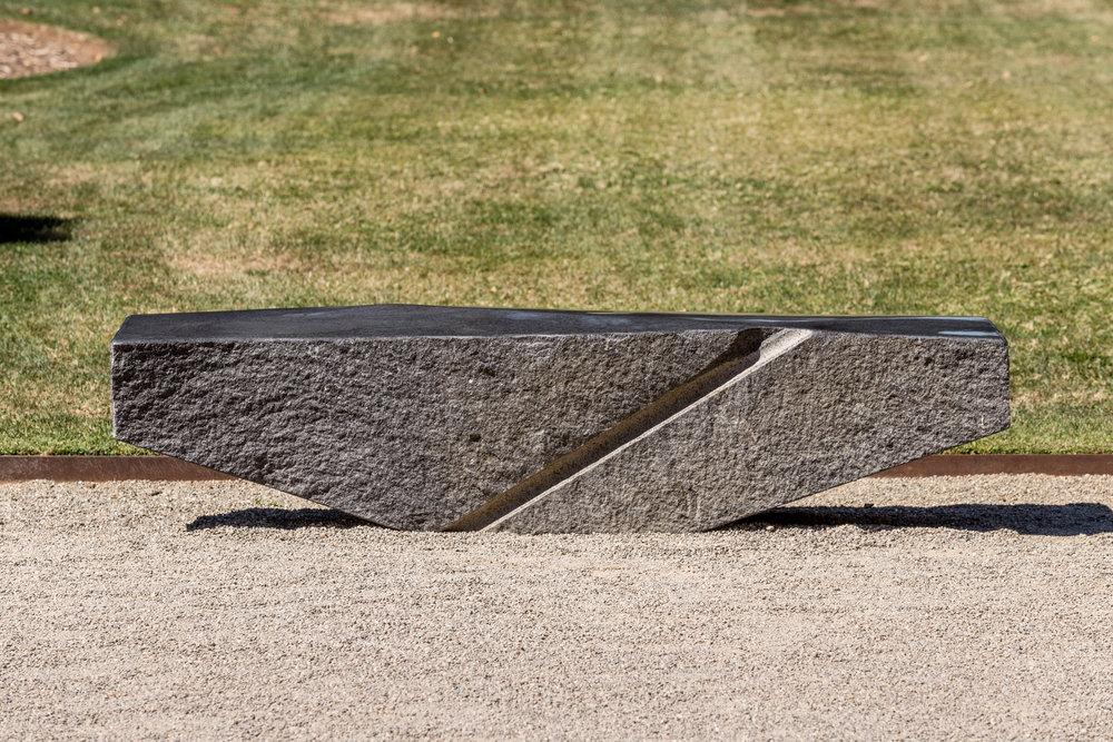 "Zigzag Bench  - Granite, 80"" x 18"" x 18"""