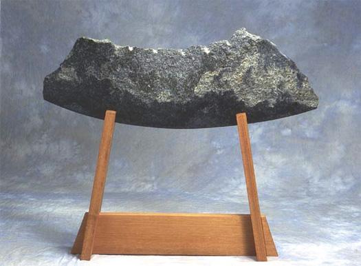 "Sword of Wisdom  - Granite & mahogany, 48"" x 40"""