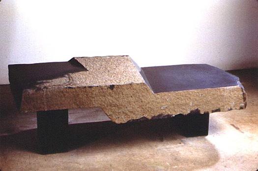 """Landscape Bench  - Basalt, 56"""" x 20"""""""