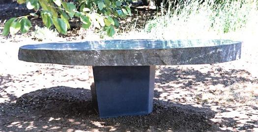 "Granite Table  - Basalt base, 110"" x 54"" x 31"""