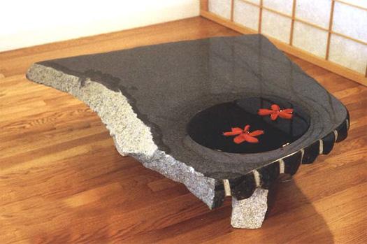 """Water Table  - Granite, 36"""" x 12"""""""