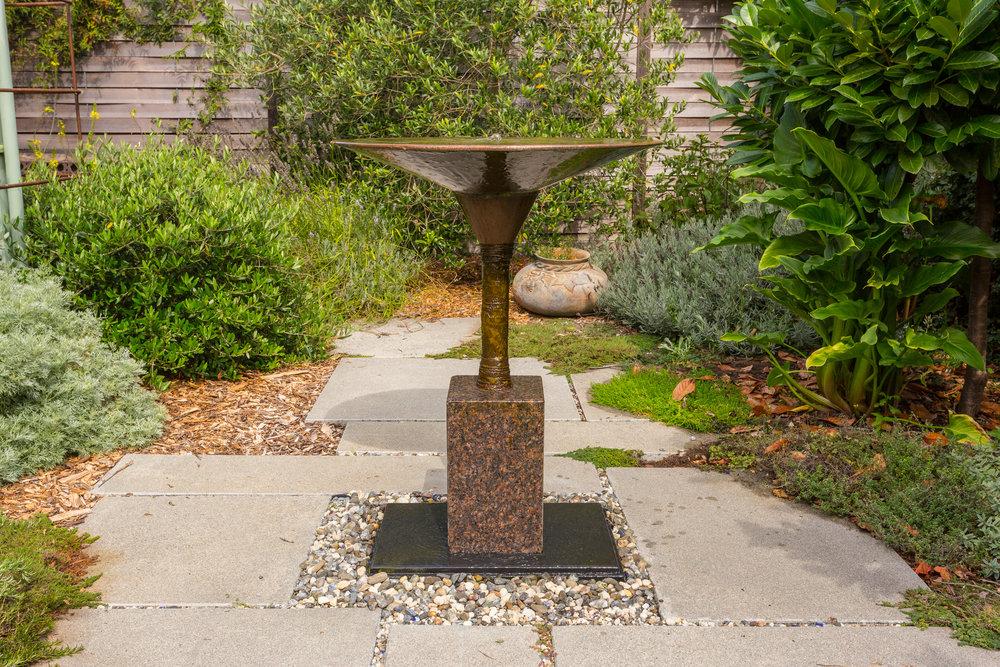 Copper & granite, 3' high