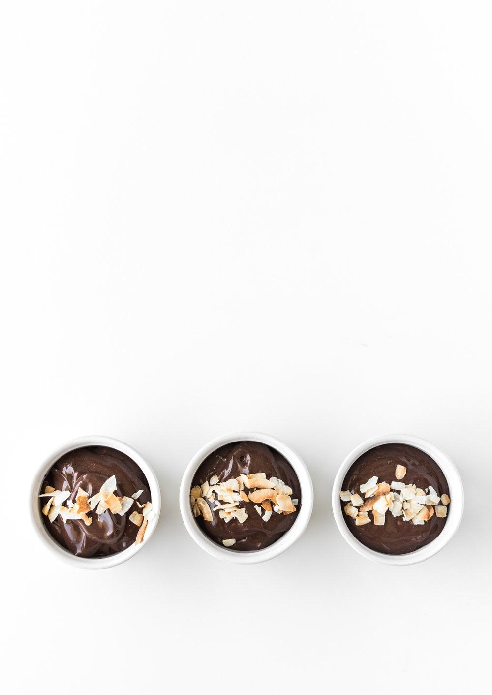 chocolate coconut pudding