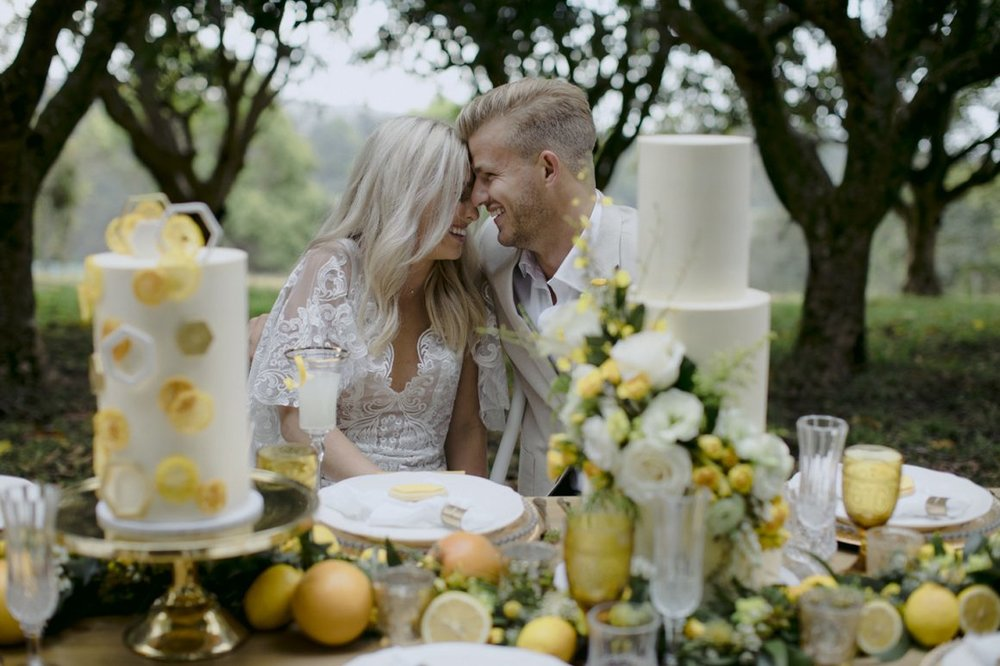 Rustic Bright Summery Wedding - OH IT'S PERFECT'Milk and Honey Cake Creative has just launched – a fresh and innovative Gold Coast cake company. Devoted to producing cakes that delight both your eyes and tastebuds! Creations which fill the room with excited chatter and will have your guests coming back for seconds.'