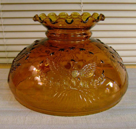 "10"" Amber Eagle (old formula, Amber Glass - Not Stained Glass) $85.00"