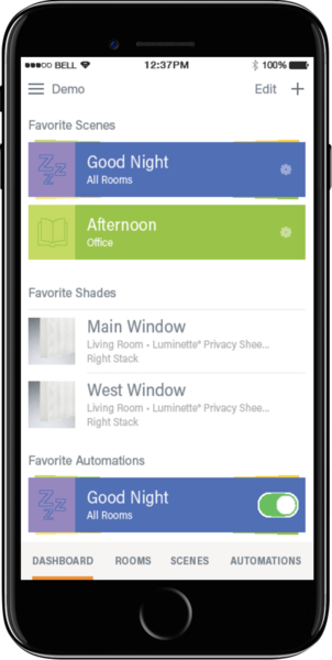Hunter Douglas Motorization App