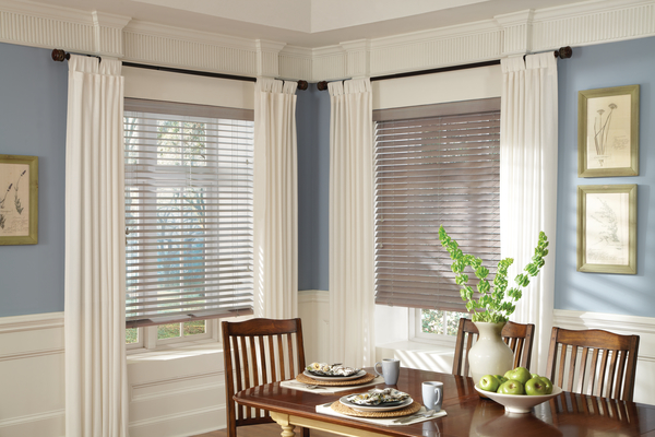 Blinds - Custom blinds provide precise light control with easy-to-operate slats crafted from a range of high-quality materials. Whether you're looking for the high-end, natural beauty of wood or the durable versatility of aluminum and vinyl, there's a solution for every environment, style, and budget.