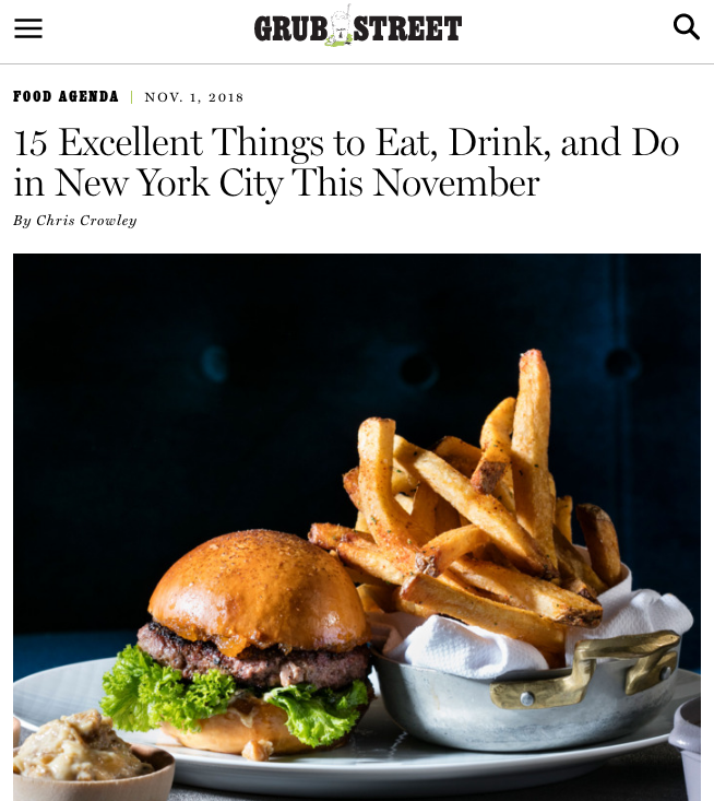 GRUB STREET - Sample New York's newest over-the-top burger, which is made with confit duck leg.Duck: It's everywhere. But what about a duck burger? There's one on the menu at the brand-new Pomona (8 West 58th Street), a New York–nostalgic restaurant from the duo who worked at places like Strip House and Daniel. (They also ran the short-lived first iteration of Henry.) That pricey bird burger ($38) is one complicated patty. It's made with ground duck breast, chopped liver, scraps of foie gras, and confit leg meat, which is all spiced up. After grilling, it's rested into a duck jus with orange, and served on a brioche bun with duck-skin mayo, orange zest, mustard, and grapefruit jam. (The rest of the menu similarly retrofits many other steakhouses and meaty classics.)READ FULL ARTICLE HERE