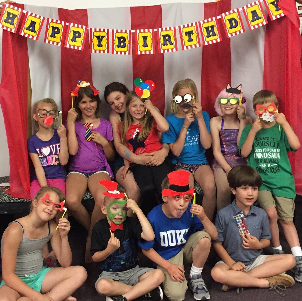Birthday Parties at MFA Studios in Locust Grove, VA.