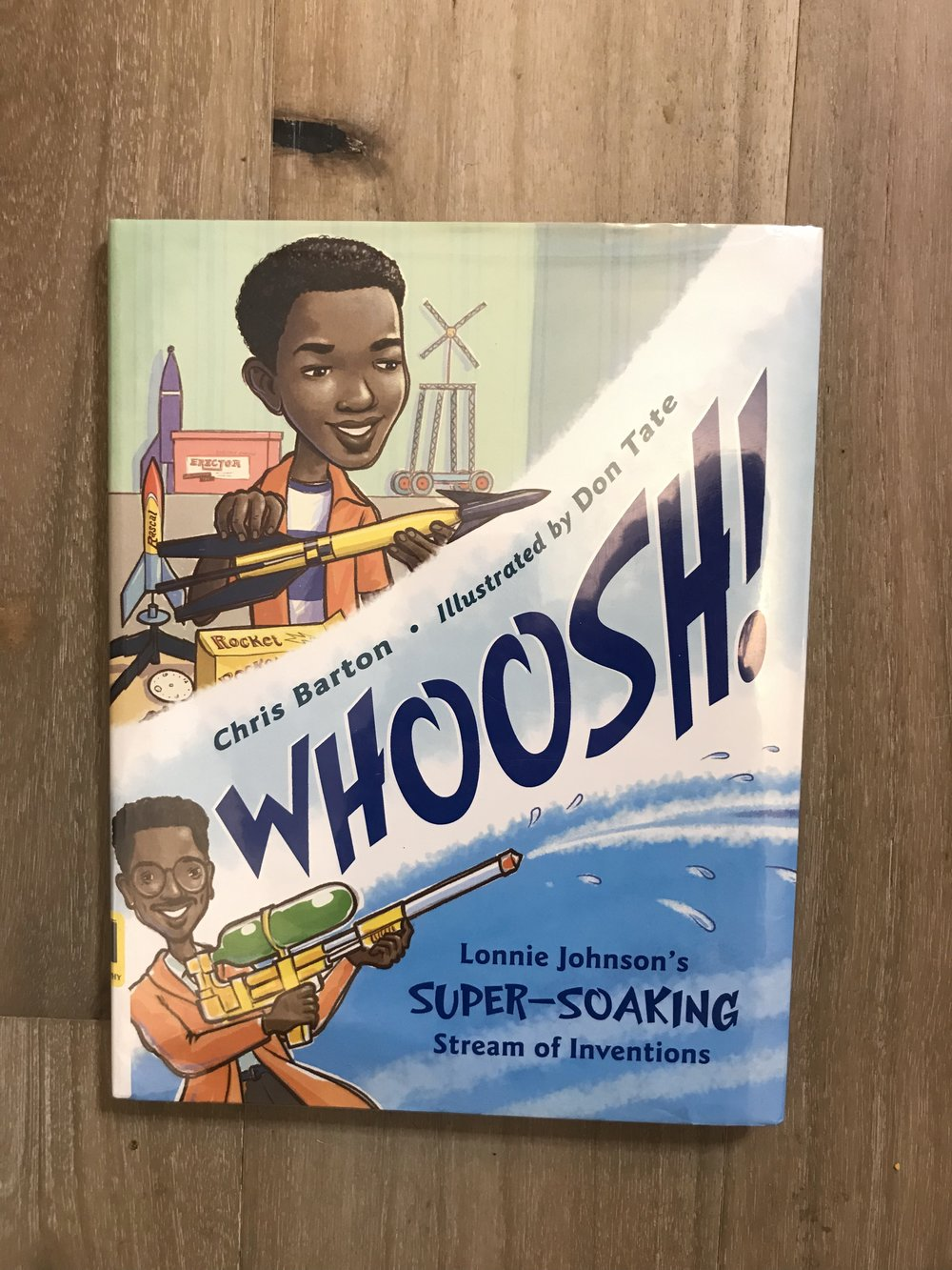 We borrowed this book form our local library . The kids really enjoyed this one and I was able to tell the kids stories of me and my super soaker growing up . I am going to purchase this book as well.