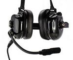 Motorola PMLN 6539 (Noise-Cancelling Ear Muffs) - Great for loud noise events. Has comfortable muff pads that keep the noise out.  PTT button to transmit.