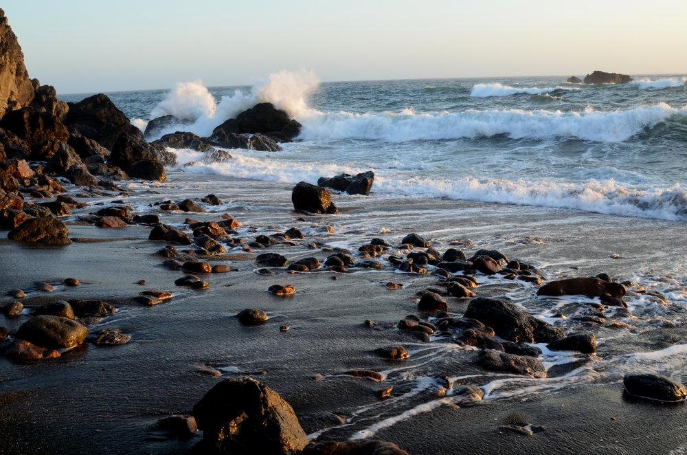 Carmet Beach - Where the rocks sing.