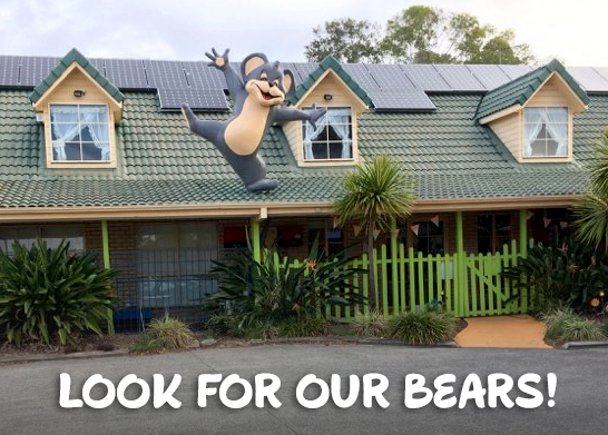 Centres have large play areas and look for the bears on the roof!